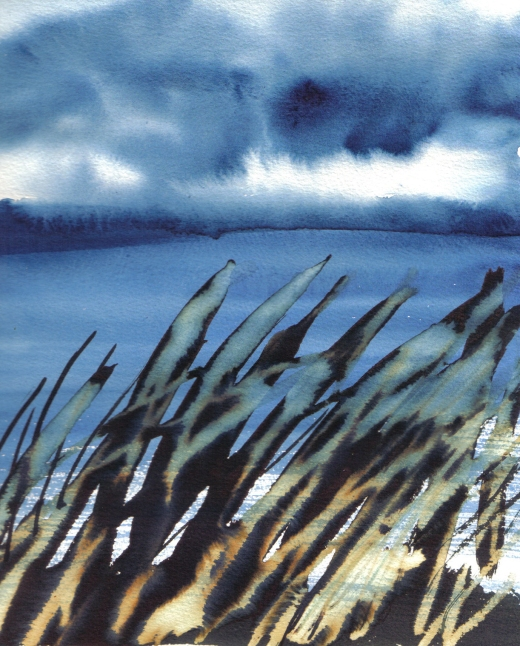 cloudy bay - water colour and ink